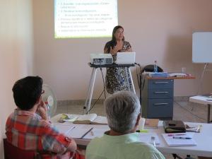 Mrs. Patricia Adrianzén, author and editor of Ediciones Verbo Vivo